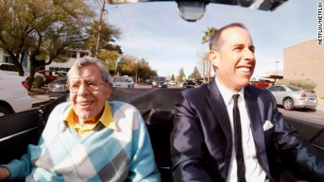The late Jerry Lewis is among the comedians featured in the latest season of Jerry Seinfeld's 'Comedians in Cars Getting Coffee'