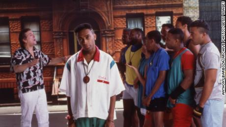"Spike Lee (center) is shown on the set of his film ""Do the Right Thing."""