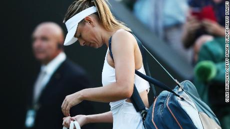Maria Sharapova lost in the first round at Wimbledon for the first time in her career.