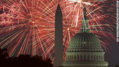 """Selon Trump, le 4 juillet, ce sera """"l'un des plus grands rassemblements de l'histoire de Washington, D.C.""""."""