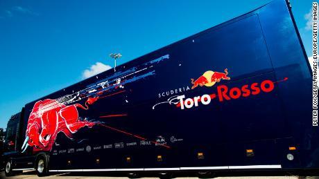 A Toro Rosso truck at Circuito de Jerez, Spain.