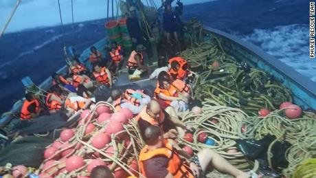 Dozens missing after two boats capsized in Phuket Thailand. Handout photos from the Phuket Rescue Team.
