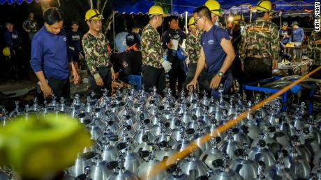 Rescue teams on the ground drilled more than 100 wells in an attempt to find a route for the boys from the trapped Thai caves, Osottanakorn said, but