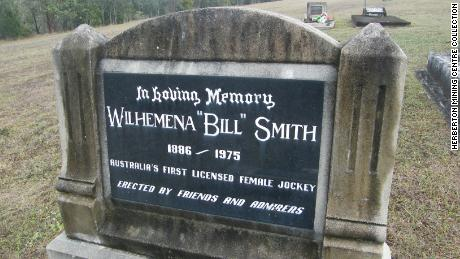 """Australia's first licensed female jockey,"" Smith's tombstone reads."