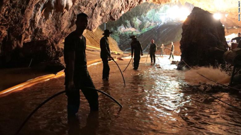 6 boys safely rescued from flooded Thai cave as operation underway