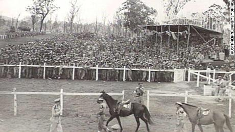 Herberton racecourse pictured in 1945, where Bill 'Girlie' Smith is said to have raced.