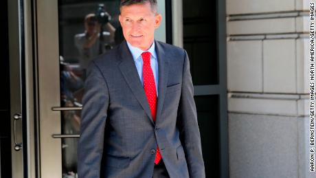 WASHINGTON DC- July 10 Michael Flynn former National Security Advisor to President Donald Trump departs the E. Barrett Prettyman United States Courthouse following a pre-sentencing hearing
