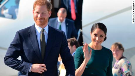 Duke and Duchess of Sussex arrive in Ireland on first global trip