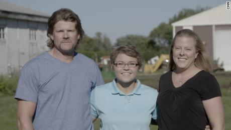 Alyssa Gilderhus with her parents months after they helped her escape from the Mayo Clinic.