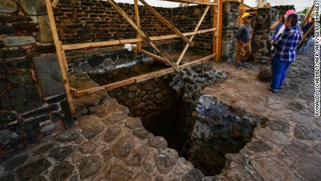Natural disaster  damage reveals older structure inside Mexico pyramid