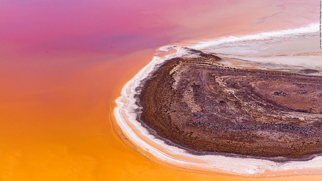 Rare rain transforms Australia's Kati Thanda-Lake Eyre into dazzling rainbow