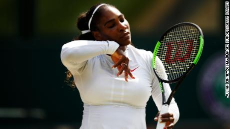 Serena Williams is bidding for an eighth Wimbledon title.