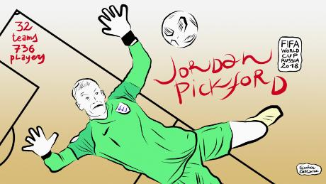 Pickford had a consistently impressive World Cup.