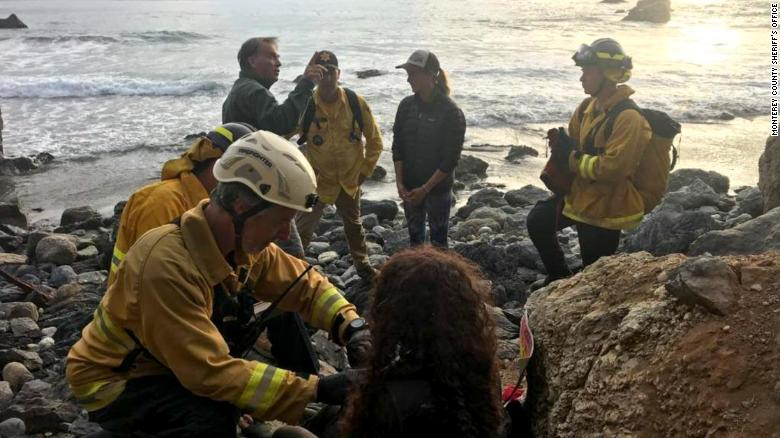 Woman whose vehicle plunged off a California cliff found alive