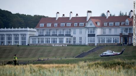 Trump says he knows 'nothing' about Air Force crews staying at his Turnberry resort