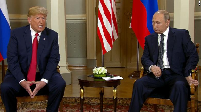 Putin says Trump brought up election meddling