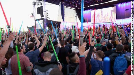 'Star Wars' fans at a presentation at Comic-Con International