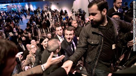 Macron's aide put on compulsory leave for hitting protester