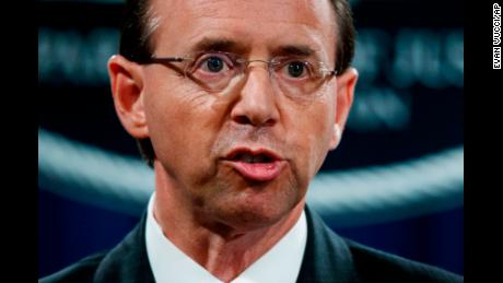 Rod Rosenstein, deputy attorney general overseeing Russian Federation investigation, at Aspen Security Forum
