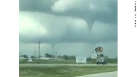 Two tornadoes form in IA; steeple ripped off building in separate twister