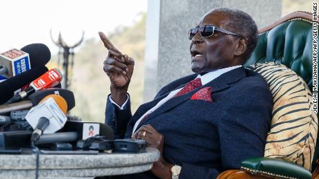 Zimbabwe's Mugabe emerges, rejects Mnangagwa in election
