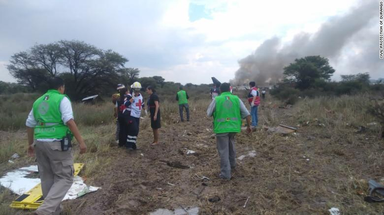 80 injured, 2 critically, after Aeromexico plane crashes at airport, officials say