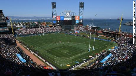 San Francisco's AT&T Park swapped baseball for rugby ahead of the Rugby World Cup Sevens