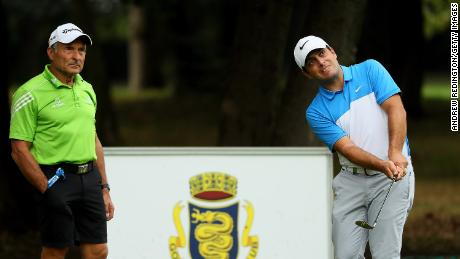 Dave Alred (left) works with Open champion Francesco Molinari.
