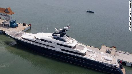 Equanimity, Low's former, 300-foot luxury yacht.