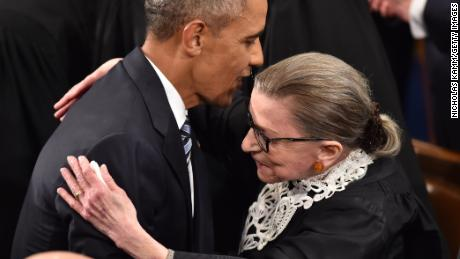 Obama pays tribute to Ginsburg and says her seat should not be filled until after next president sworn in