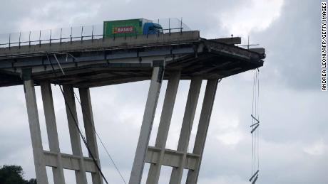 Demolition experts to blow up remains of Morandi bridge in Genoa, Italy