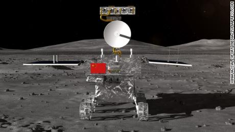 China's rover for the Chang'e-4 lunar probe which is expected to land on the far side of the moon this year was unveiled Wednesday