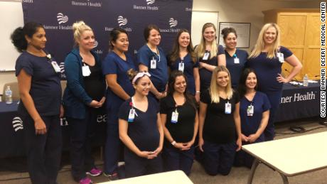ICU nurses pregnant at the same time in Arizona