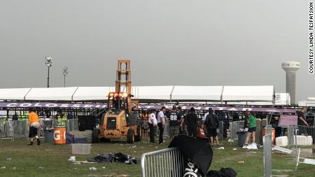 Storm knocks over Winstar venue entrance, injuring 14 before Backstreet Boys concert