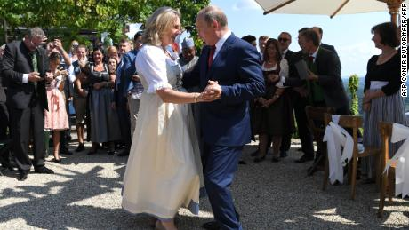 Warm Embraces As Vladmir Putin Dances At Austrian Minister's Wedding