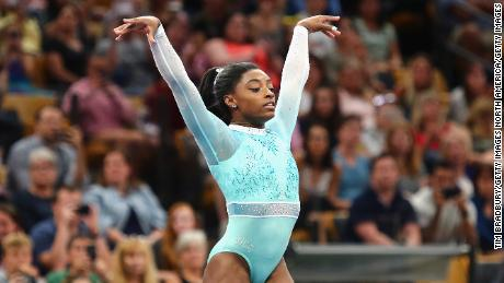 Biles is the oldest women's all-around champion since Linda Metheny tied for the titled aged 24 in 1971.