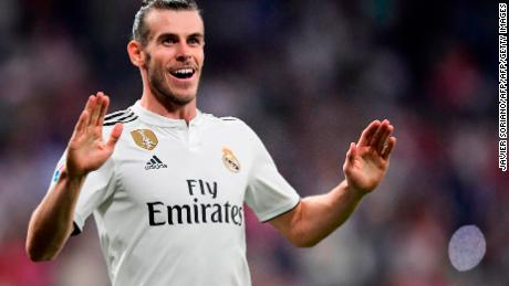 Bale scored twice as Real beat Liverpool in the Champions League final in June