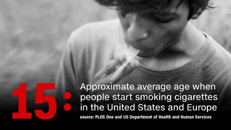 At what age do children start smoking?