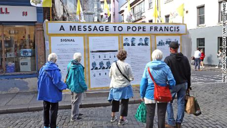 Ireland abuse survivors say Pope must face up to Church's past sins