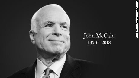People pay their respects to 'American hero' John McCain after his death