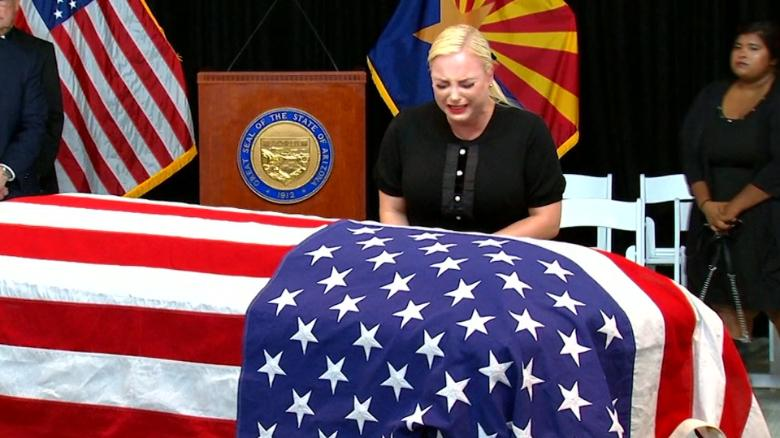 Meghan McCain paid tribute to her dad, John McCain, with Trump drags