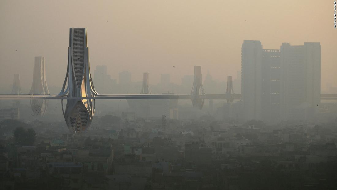 Giant filter towers proposed to eliminate Delhi smog