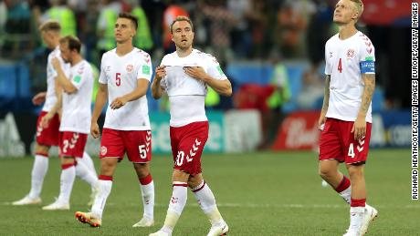 Denmark reached the last-16 at Russia 2018