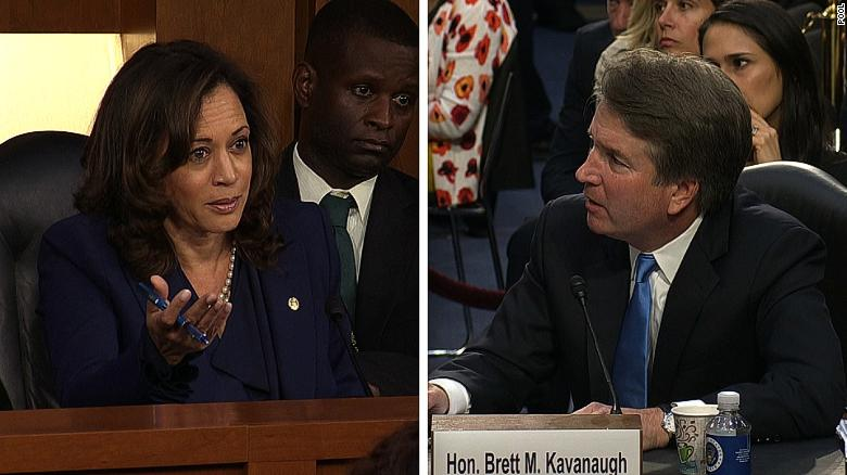 Sen. Harris pushes Kavanaugh on abortion