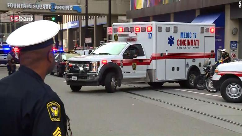 Four people dead after gunman opens fire in downtown Cincinnati