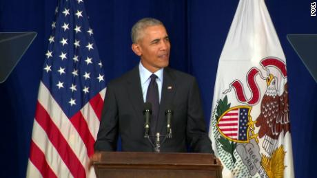 Obama delivers rebuke to Trump at University of IL
