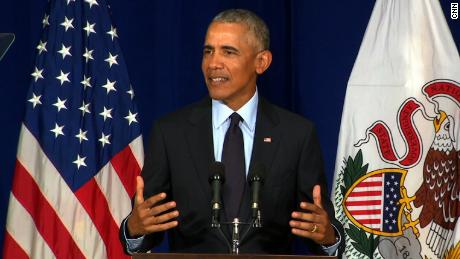 Former President Obama delivers speech at University of IL