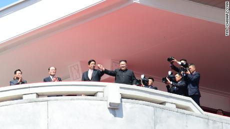 North Korean anniversary parade full of colour but without any intercontinental missiles