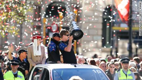 Team New Zealand returned to a heroes' welcome when they won the America's Cup in 2017.