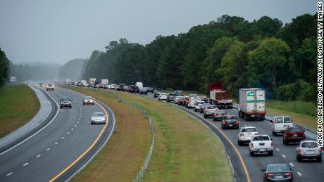 As Hurricane Florence approached in 2017, residents in North Carolina evacuated to escape the danger. Some fear that the economic toll of coronavirus could make it difficult for some to leave this year if necessary.